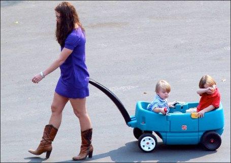 Britney with kids